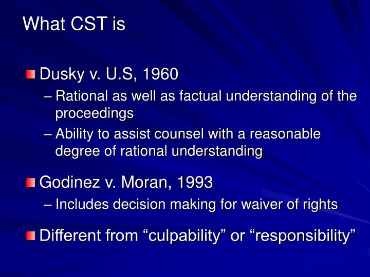 What cst is