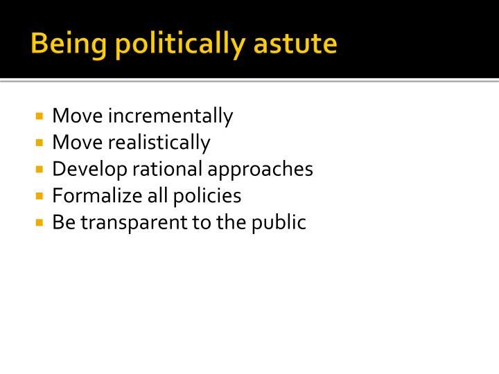 Being politically astute