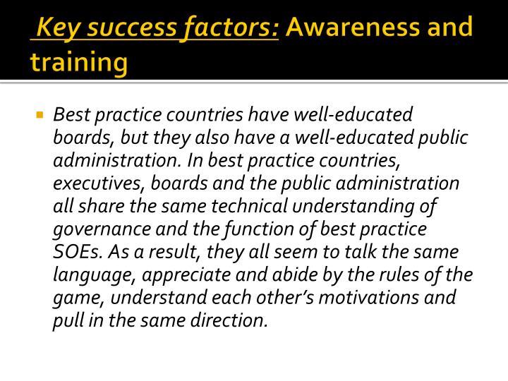 Key success factors: