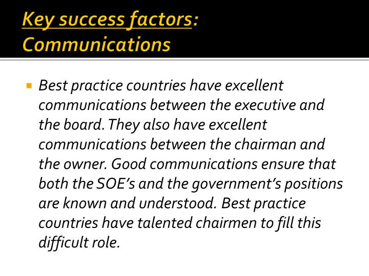 Key success factors