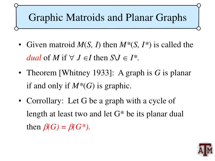 Graphic Matroids and Planar Graphs