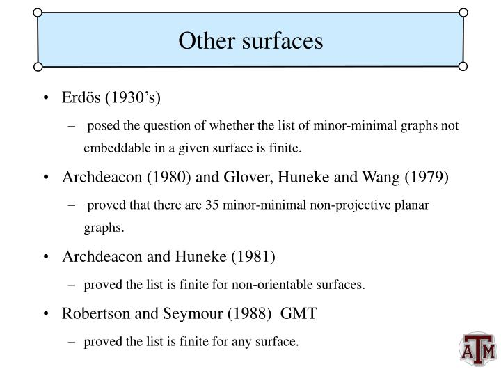 Other surfaces