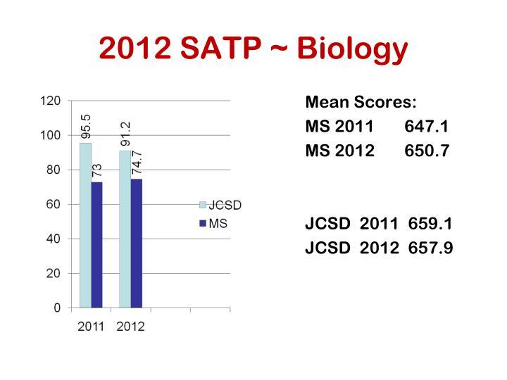 2012 SATP ~ Biology