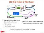200 mhz soliton er fiber laser