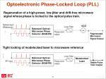 opt oelectronic phase locked loop pll