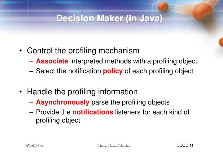Decision Maker (in Java)
