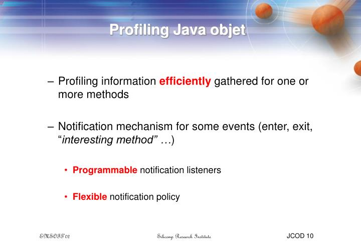 Profiling Java objet