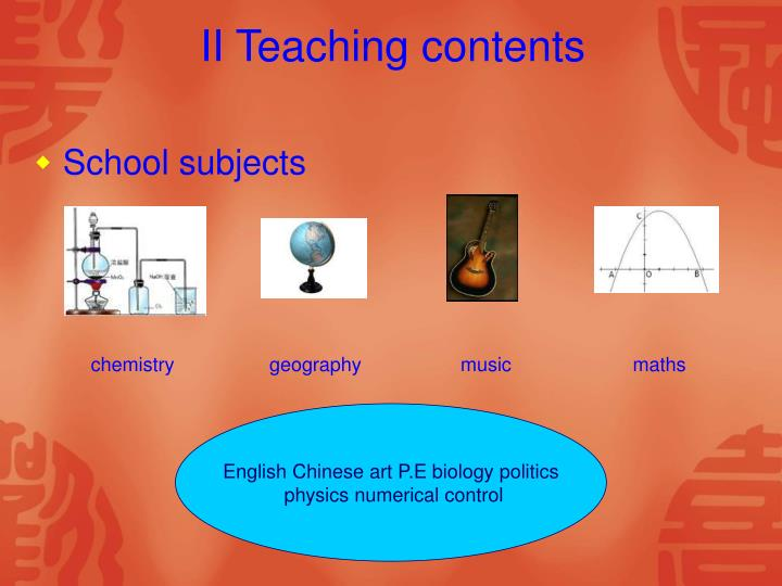 Ii teaching contents