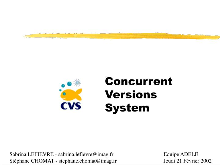 concurrent versions system n.