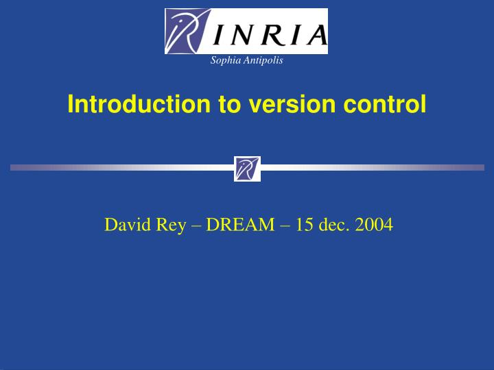 introduction to version control n.