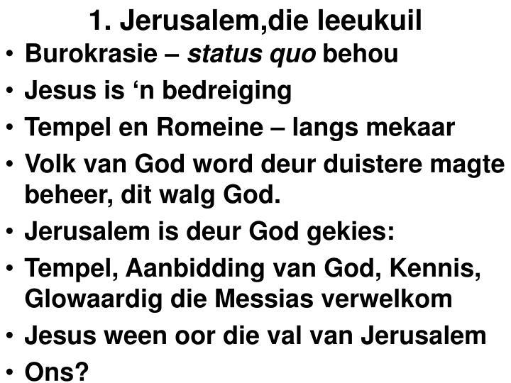 1. Jerusalem,die leeukuil