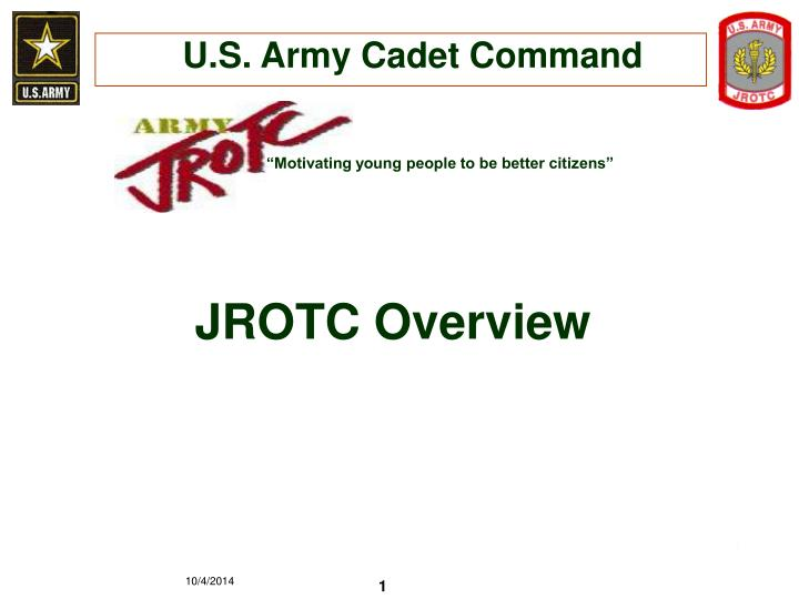 Ppt U S Army Cadet Command Powerpoint Presentation Free