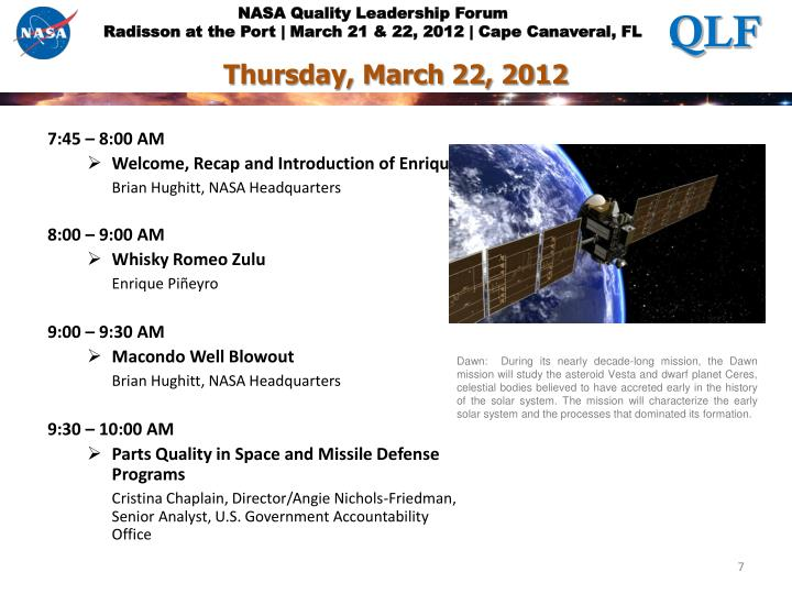 Thursday, March 22, 2012
