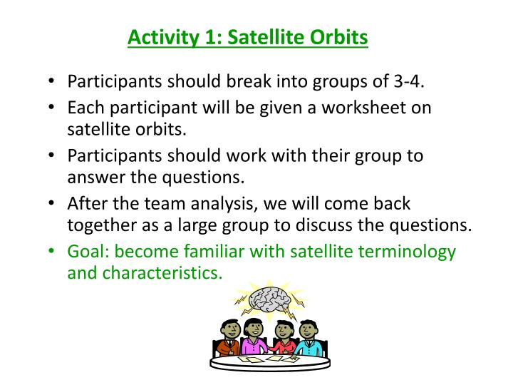 Activity 1: Satellite Orbits