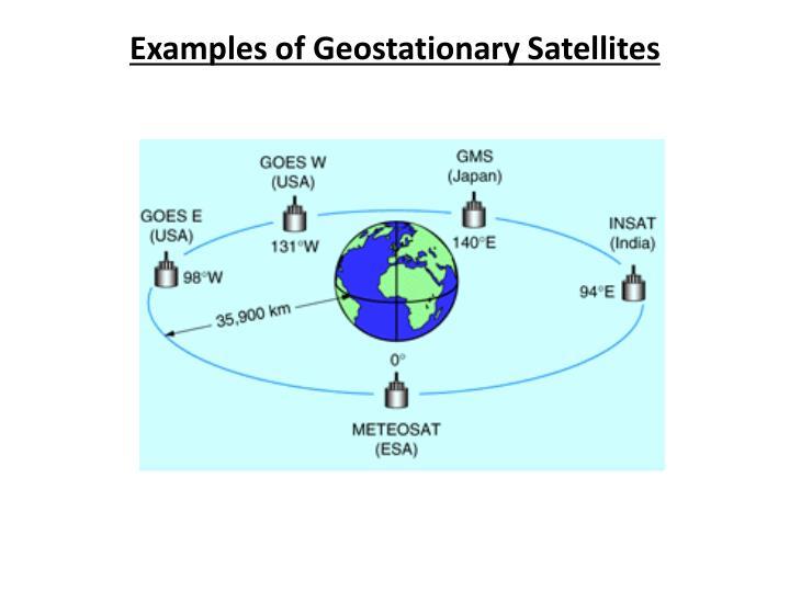 Examples of Geostationary Satellites