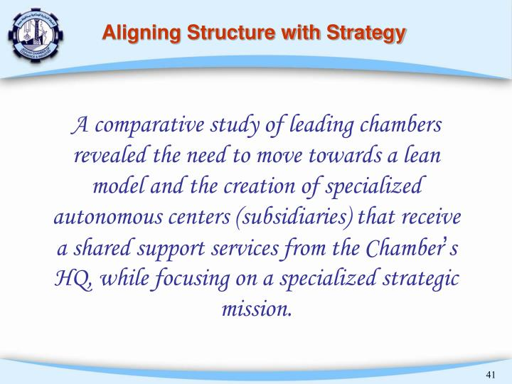 Aligning Structure with Strategy