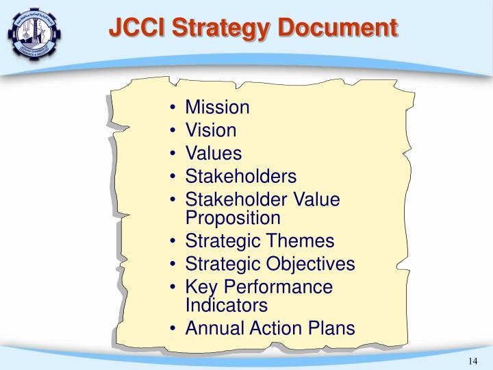 JCCI Strategy Document