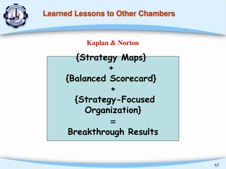 Learned Lessons to Other Chambers