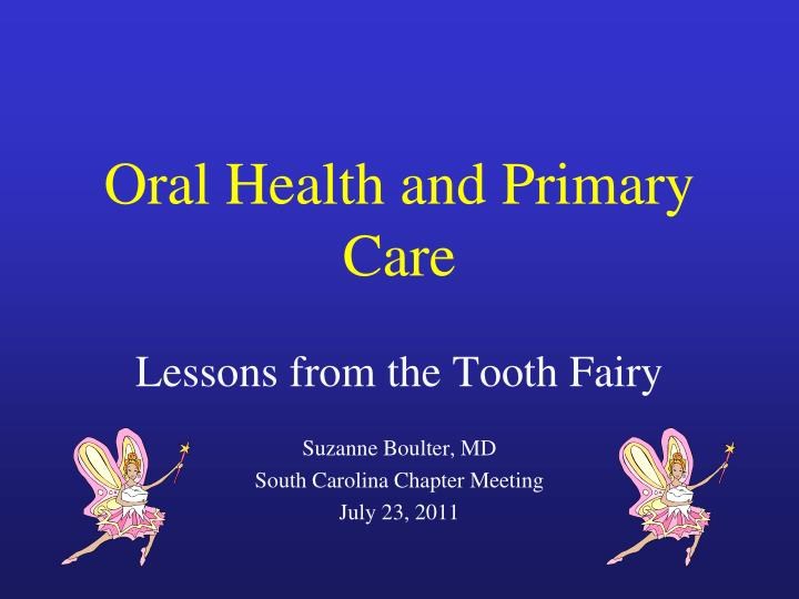 oral health and primary care n.