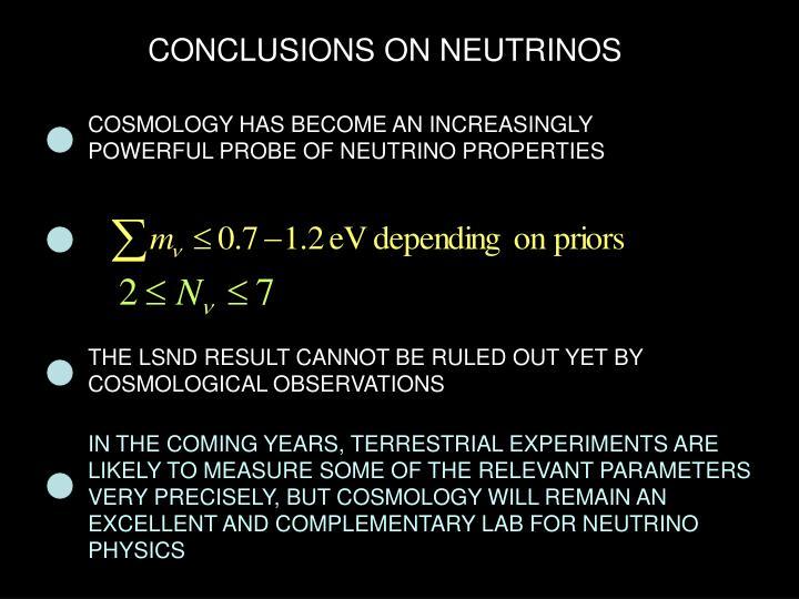 CONCLUSIONS ON NEUTRINOS