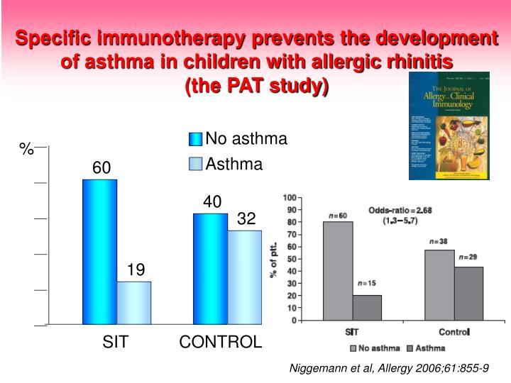 Specific immunotherapy prevents the development