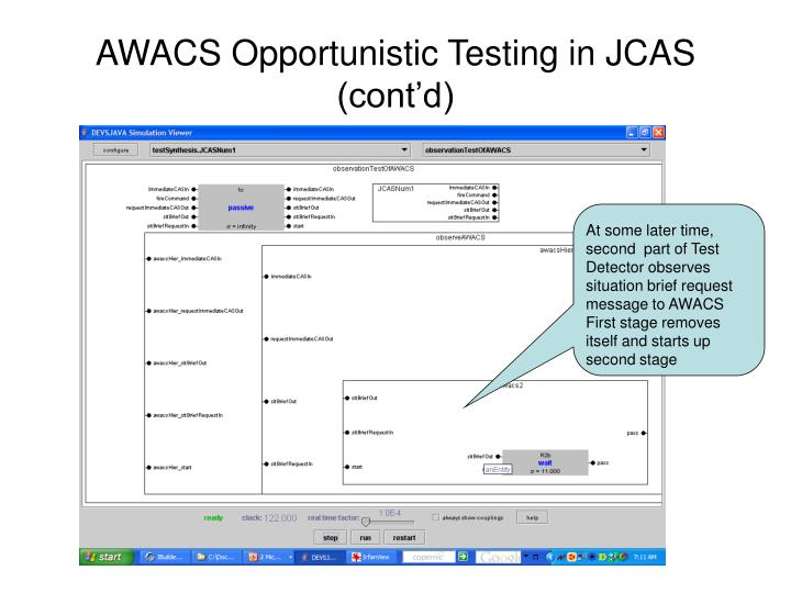 AWACS Opportunistic Testing in JCAS (cont'd)