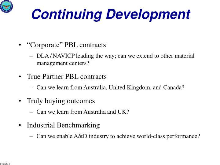 Continuing Development