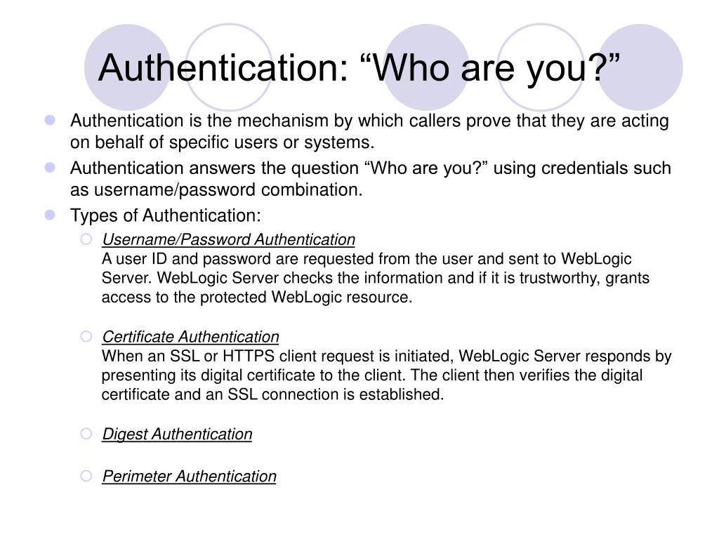 PPT - Understanding WebLogic Security PowerPoint Presentation - ID