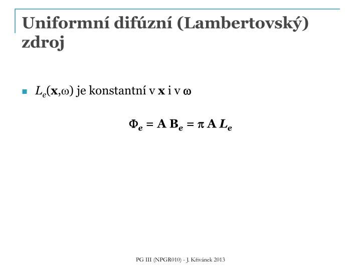 Uniformní difúzní (
