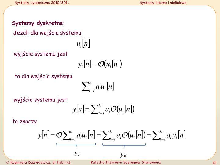 Systemy dyskretne