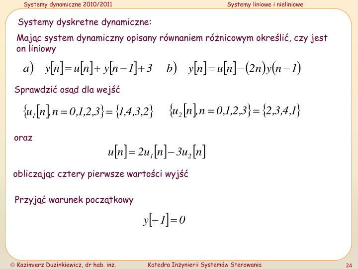 Systemy dyskretne dynamiczne:
