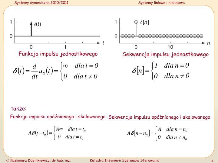 Funkcja impulsu jednostkowego
