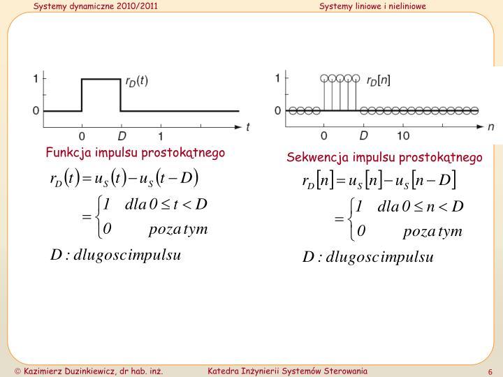 Funkcja impulsu prostokątnego