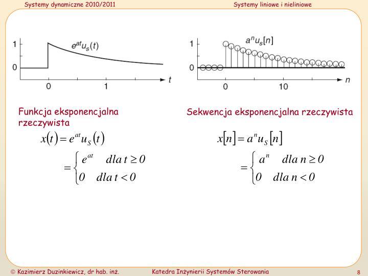 Funkcja eksponencjalna rzeczywista