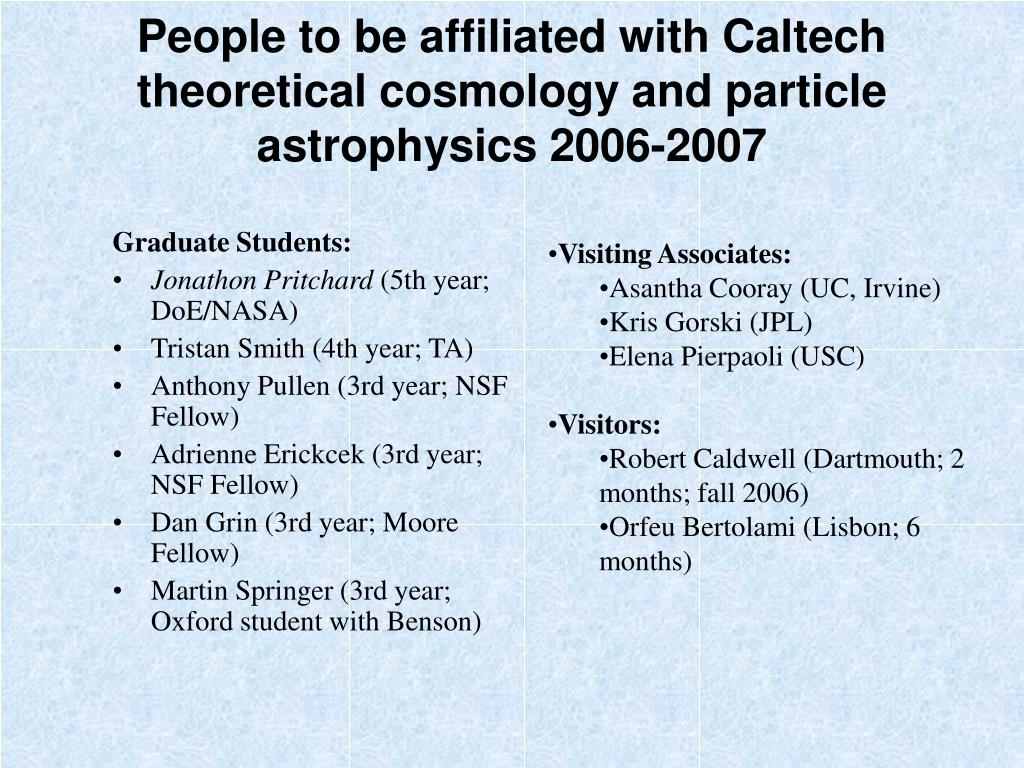 PPT - Theoretical Cosmology and Particle Astrophysics at