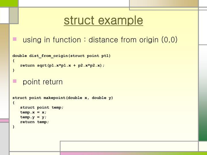 struct example