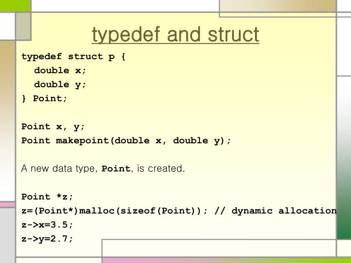 typedef and struct