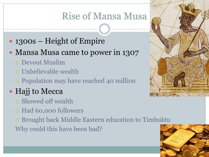 Rise of Mansa Musa