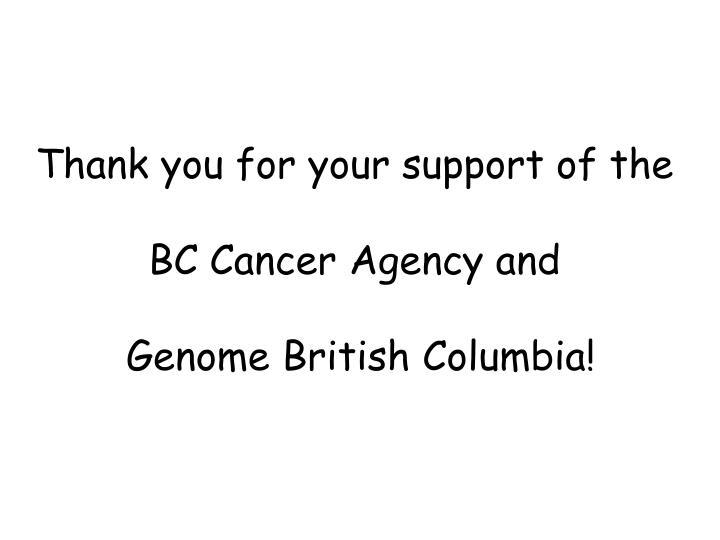 Thank you for your support of the