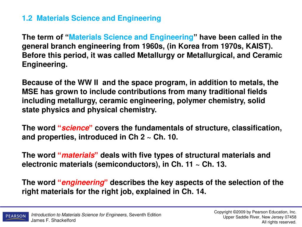 PPT - CC512 Introduction to Materials Science and Engineering
