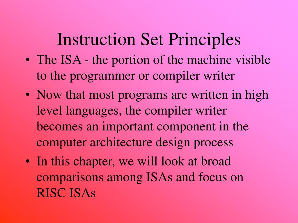 Ppt Instruction Set Principles Powerpoint Presentation Free Download Id 5160092