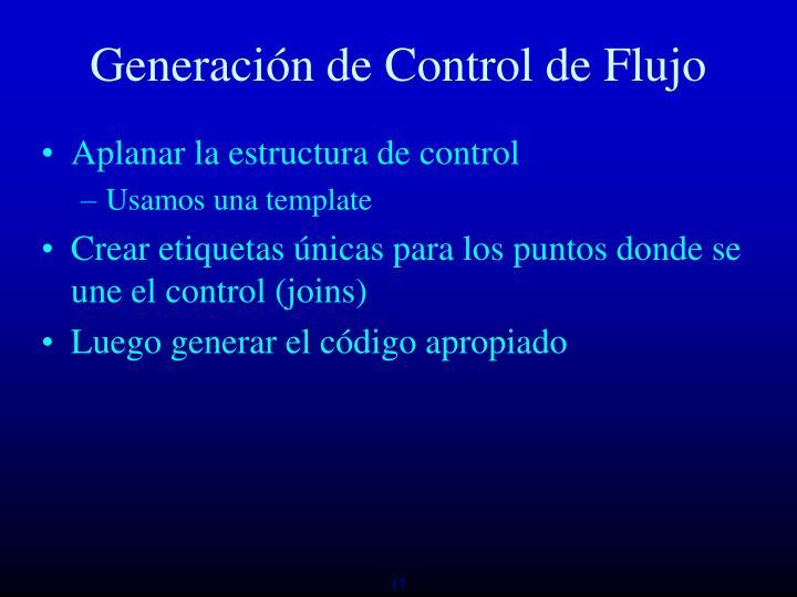Generación de Control de Flujo