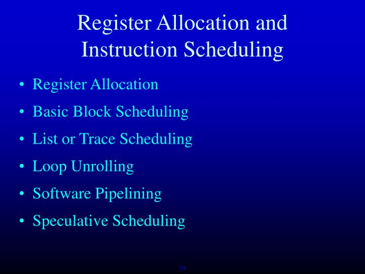 Register Allocation and