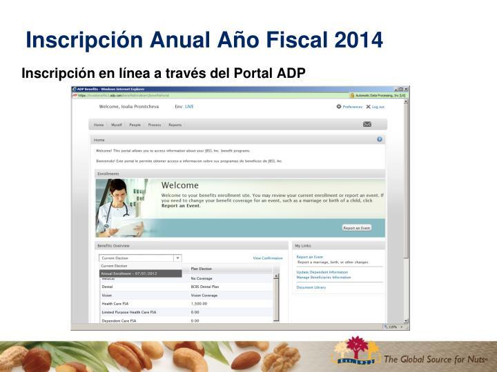 Inscripci n anual a o fiscal 20142