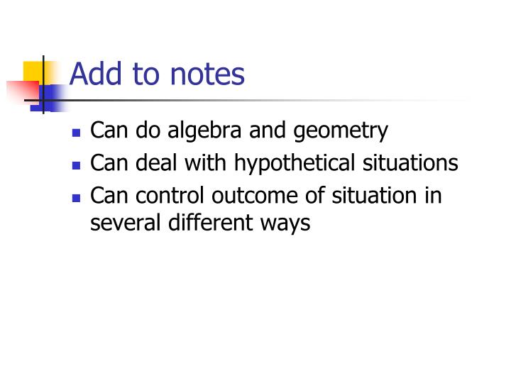 Add to notes