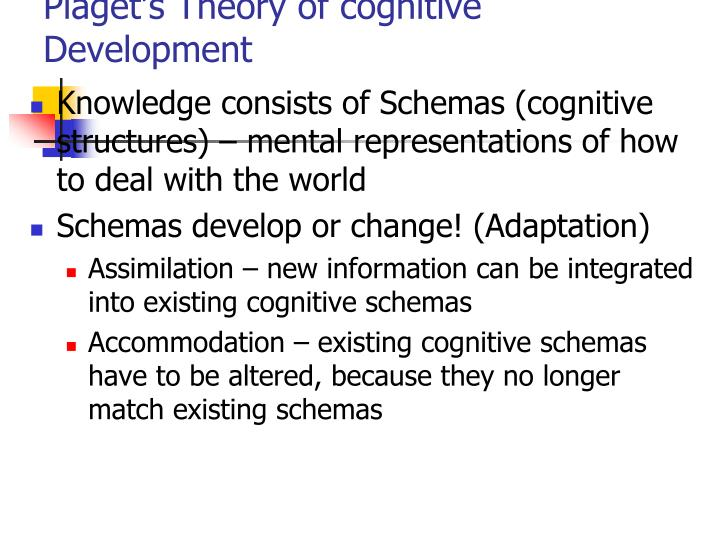 Piaget s theory of cognitive development