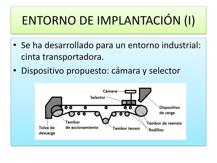 ENTORNO DE IMPLANTACIÓN (I)