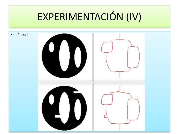 EXPERIMENTACIÓN (IV)