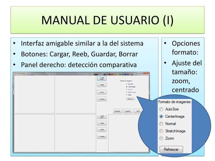 MANUAL DE USUARIO (I)