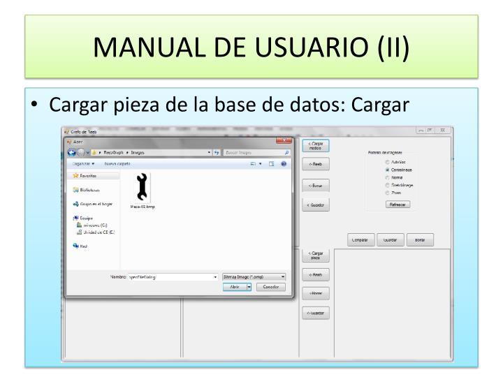 MANUAL DE USUARIO (II)